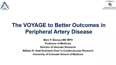 Thumbnail for entry The voyage to better outcomes in peripheral artery disease