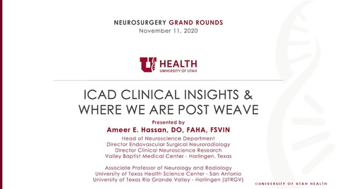 Thumbnail for entry ICAD Clinical Insights & Where We Are Post WEAVE