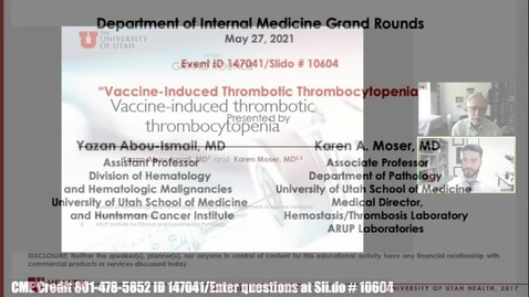 Thumbnail for entry Vaccine-induced Thrombotic Thrombocytopenia