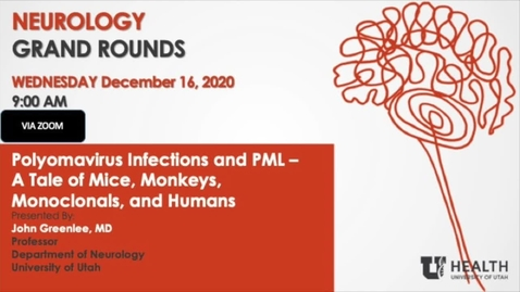 Thumbnail for entry Polyomavirus Infections and PML - A Tale of Mice, Monkeys, Monoclonals, and Humans