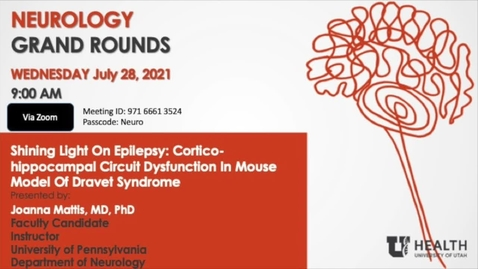 Thumbnail for entry Shining Light On Epilepsy: Cortico-hippocampal Circuit Dysfunction In Mouse Model Of Dravet Syndrome