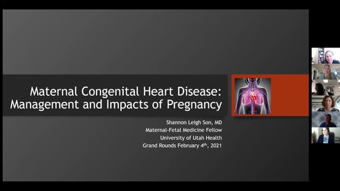 Thumbnail for entry Maternal congenital heart disease: Management & impacts of pregnancy