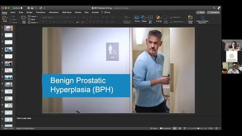 Thumbnail for entry Men's Health Seminar - Benign Prosthetic Hyperplasia (BPH) - September 14, 2020