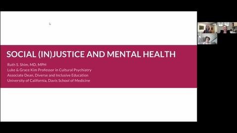 Thumbnail for entry Social Injustice & Mental Health