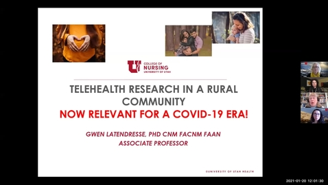 Thumbnail for entry Telehealth research in a rural community Now relevant for a covid-19 era
