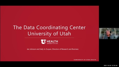 Thumbnail for entry Data coordinating center