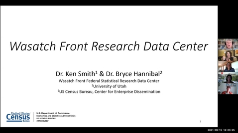 Thumbnail for entry Research opportunities with big federal data through the wasatch front research data center