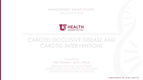 Thumbnail for entry Carotid Occlusive Disease and Carotid Interventions