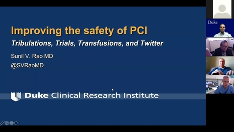 Thumbnail for entry Improving the safety of PCI: Tribulations, trials, transfusions & twitter