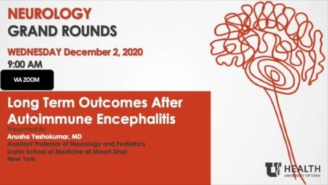 Thumbnail for entry Long Term Outcomes After Autoimmune Encephalitis