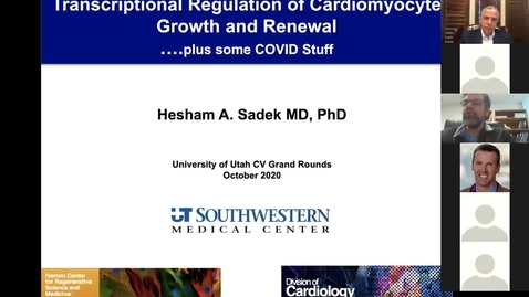 Thumbnail for entry Transcriptional regulation of cardiomyocyte growth & renewal...plus some Covid stuff
