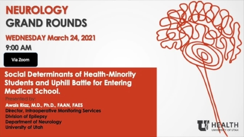 Thumbnail for entry Social Determinants of Health-Minority Students and Uphill Battle for Entering Medical School