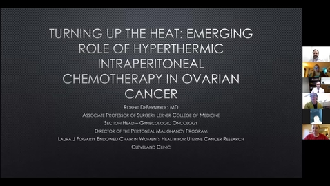 Thumbnail for entry Turning up the heat: Emerging role of hyperthermic intraperitoneal chemotherapy in ovarian cancer