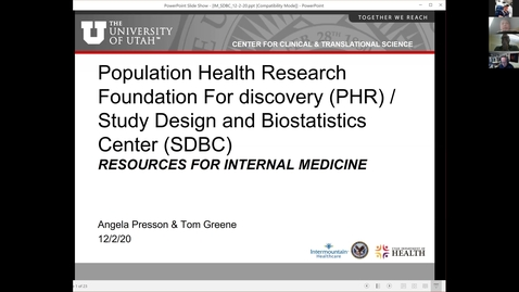Thumbnail for entry  Population health research foundation for discovery (PHR) - Study design & biostatistics center (SDBC) / The importance of confidence intervals & honest statistical power