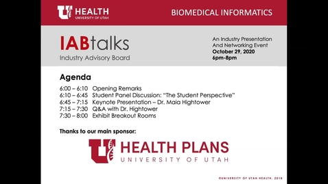 Thumbnail for entry IABtalks – Sponsored by: University of Utah Health Plans