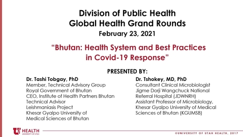 Thumbnail for entry Bhutan: Health System and Best Practices in COVID-19 Response