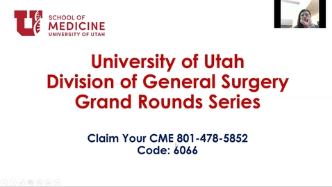 Thumbnail for entry 1/6/2021 The State of Rural Surgery and the University of Utah/Kalispell Rural Experience