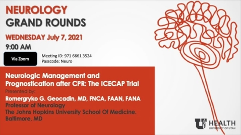 Thumbnail for entry Neurologic Management and Prognostication after CPR: The ICECAP Trial