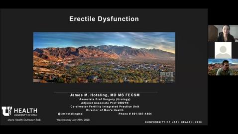 Thumbnail for entry Men's Health Seminar - Erectile Dysfunction & Peyronie's Disease - July 29, 2020