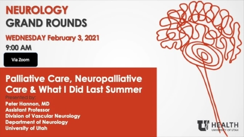 Thumbnail for entry Palliative Care, Neuropalliative Care & What I did Last Summer