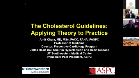 Thumbnail for entry The cholesterol guidelines: Applying theory to practice