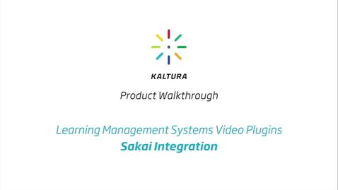 Thumbnail for entry Kaltura LMS Video Plugin: Sakai Integration