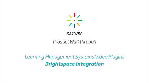 Thumbnail for entry BrightSpace LMS Walkthrough