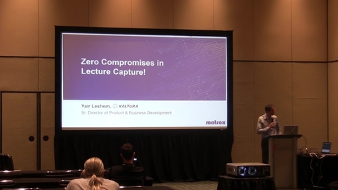 Thumbnail for entry InfoComm 2017 - Kaltura-Matrox Lecture Capture Integration and Value Proposition