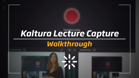 Thumbnail for entry Kaltura Classroom - Walkthrough