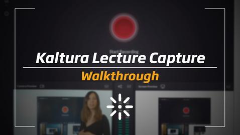 Thumbnail for entry Kaltura Classroom - Walkthrough