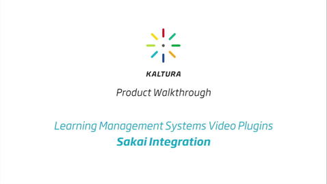 Thumbnail for entry Sakai LMS Walkthrough