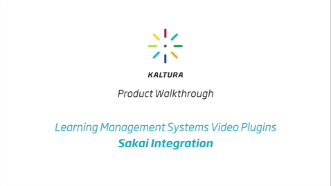 Thumbnail for entry Sakai LMS Walkthrough