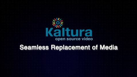 Seamless Replacement of Media     Video Tutorial