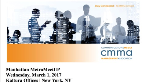 Thumbnail for entry Video Marketing Metrics Matter: CMMA Metro Meetup