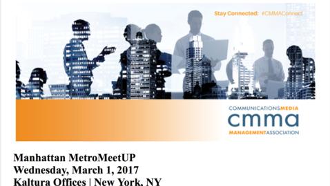 Thumbnail for entry Video Marketing Metrics Matter: CMMA Metro Meetup