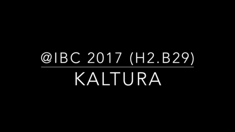 Thumbnail for entry Kaltura Cloud TV Demo at IBC 2017