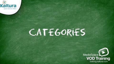 Thumbnail for entry MediaSpace Categories | Kaltura Tutorial