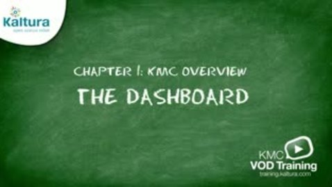 Thumbnail for entry 1.2 Reviewing the Dashboard | Kaltura KMC Tutorial