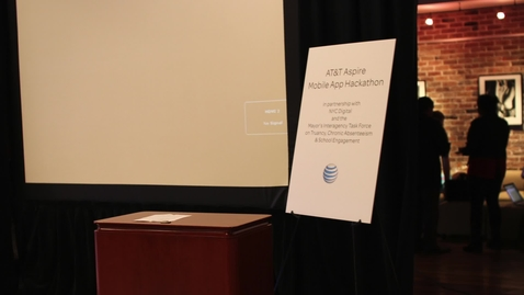 Thumbnail for entry AT&T Aspire Mobile App Hackathon Highlights