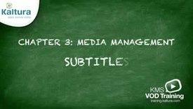 3.6 Subtitles | Kaltura KMC Tutorial