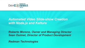 Thumbnail for entry Automated Video Slide-show Creation with Node.js and Kaltura