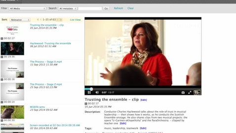 Thumbnail for entry The Use of Video in Every Step in Education