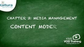 Thumbnail for entry 3.5 Content Moderation | Kaltura KMC Tutorial