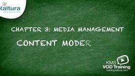 Thumbnail for entry 3.5 Content Moderation | Kaltura KMC Tutorial