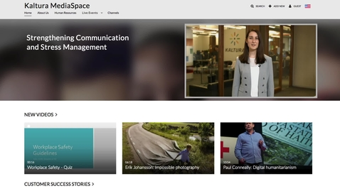 Thumbnail for entry Kaltura MediaSpace walkthrough
