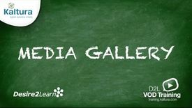 Thumbnail for entry Media Gallery | BrightSpace Tutorial