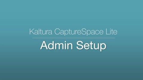 CaptureSpace Lite - Admin Setup