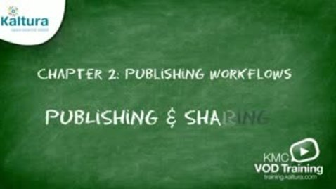 Thumbnail for entry Publishing & Sharing | Kaltura KMC Tutorial