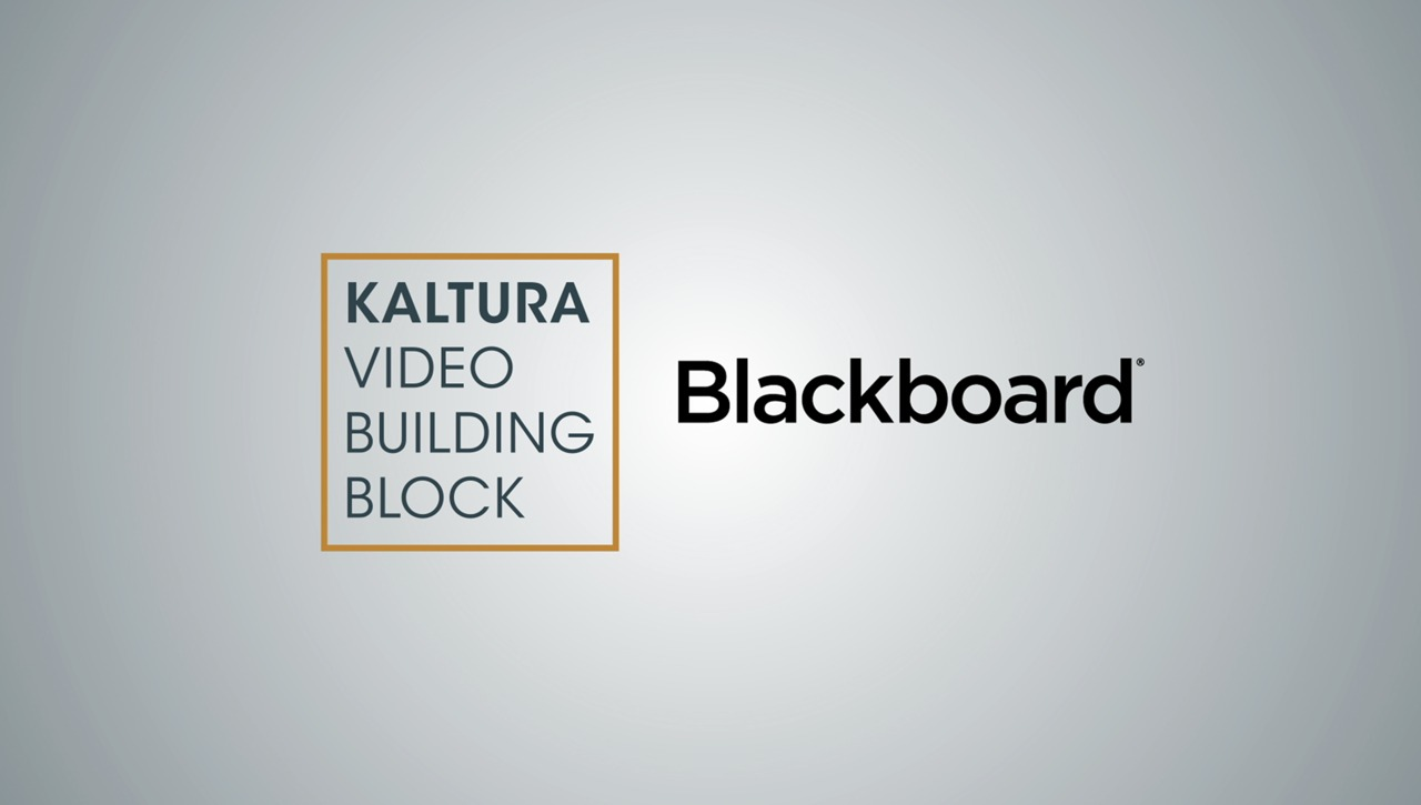 Kaltura Video Building Block for Blackboard