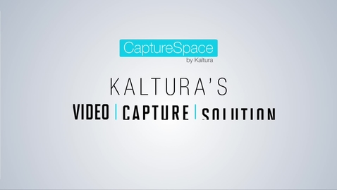 Thumbnail for entry Kaltura Education Video Solutions